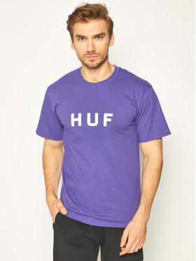 HUF HUF Póló Essentials Og Logo TS00508 Lila Regular Fit