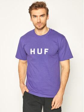 HUF HUF T-Shirt Essentials Og Logo TS00508 Fioletowy Regular Fit