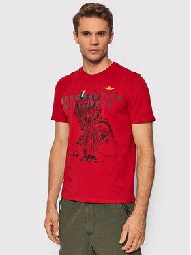 Aeronautica Militare Aeronautica Militare T-Shirt 212TS1913J469 Czerwony Regular Fit