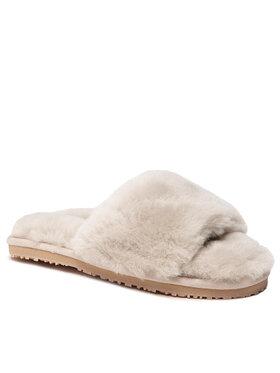 Mou Mou Пантофи Sheepskin Fur Slide Slipper FW161001L Бежов