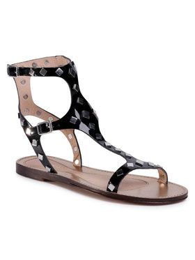 TwinSet Sandále Sandalo 201TCT04C Čierna