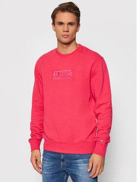Tommy Jeans Tommy Jeans Bluza Tjm Tonal Corp Logo Crew DM0DM10200 Różowy Regular Fit