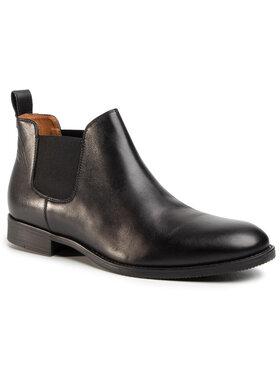 Gino Rossi Gino Rossi Kotníková obuv s elastickým prvkem Chuck MSV999-K35-E100-9900-0 Černá
