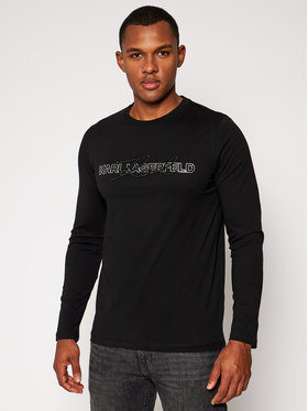 KARL LAGERFELD KARL LAGERFELD Manches longues Crewneck Ls 755042 502224 Noir Regular Fit