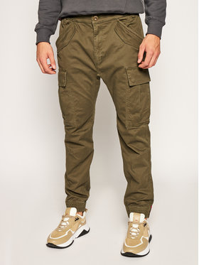 Alpha Industries Alpha Industries Joggery Airman 188201 Zielony Tapered Fit