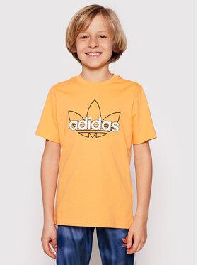 adidas adidas Póló Sprt Collection Graphic GN2300 Narancssárga Regular Fit