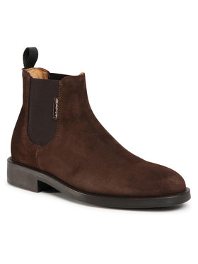 Gant Gant Kotníková obuv s elastickým prvkem Brockwill 21653008 Hnědá