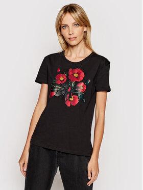 Alpha Industries Alpha Industries T-shirt Flower Logo 126063 Crna Regular Fit