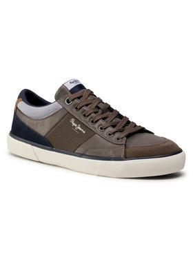 Pepe Jeans Pepe Jeans Sneakers aus Stoff Kenton Sport PMS30671 Braun