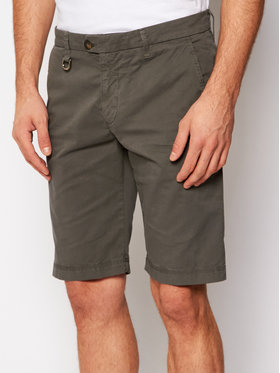 Aeronautica Militare Aeronautica Militare Pantaloncini di tessuto 211BE126F433 Grigio Regular Fit