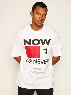 Trussardi Trussardi T-Shirt 52T00384 Biały Over Fit