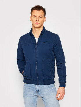 Wrangler Wrangler Bomber bunda The Bomber W4E16P114 Tmavomodrá Regular Fit