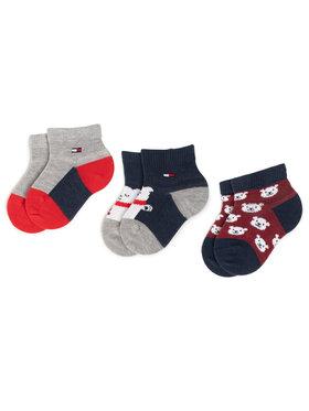 Tommy Hilfiger Tommy Hilfiger Σετ ψηλές κάλτσες παιδικές 3 τεμαχίων 100000803 Σκούρο μπλε