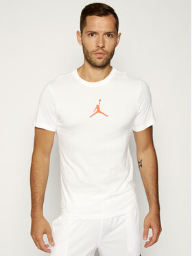 NIKE NIKE T-shirt technique Jordan Jumpman Dri-Fit BQ6740 Blanc Regular Fit