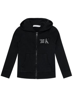 Calvin Klein Jeans Calvin Klein Jeans Суитшърт Hybrid Logo IB0IB00800 Черен Regular Fit