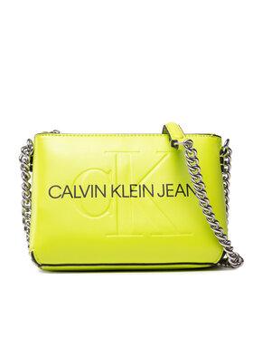 Calvin Klein Jeans Calvin Klein Jeans Kabelka Sculpted Camera Pouch W/Cha Mono K60K608688 Zelená