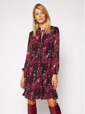 Calvin Klein Calvin Klein Ежедневна рокля Chiffon Ls Tie Skater K20K202291 Розов Regular Fit