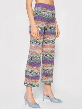 Desigual Desigual Pantaloni din material Volga 21WWPF04 Violet Straight Fit