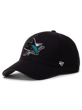 47 Brand 47 Brand Шапка с козирка Nhl San Jose Sharks '47 Mvp H-MVP22WBV-BK Черен