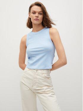 Mango Mango Bluză Rita 17031083 Albastru Slim Fit
