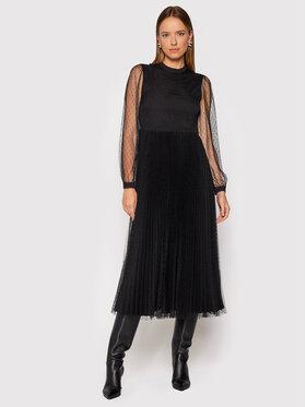 TWINSET TWINSET Koktejlové šaty 212TT2061 Černá Regular Fit