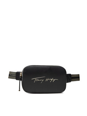 Tommy Hilfiger Tommy Hilfiger Sac banane Iconic Tommy Bumbag Sign AW0AW10456 Noir