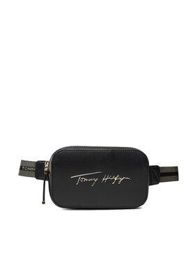 Tommy Hilfiger Tommy Hilfiger Torbica oko struka Iconic Tommy Bumbag Sign AW0AW10456 Crna