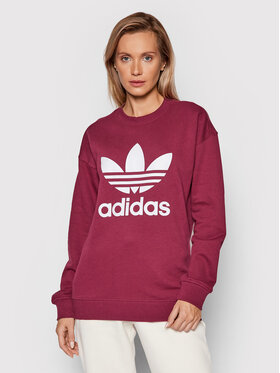 adidas adidas Sweatshirt Trefoil Crew H33579 Dunkelrot Regular Fit