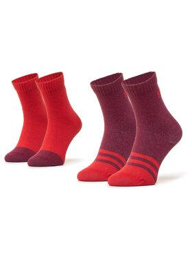 Reima Reima Súprava 2 párov vysokých ponožiek unisex MyDay 527347 Červená