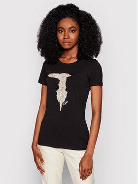 Trussardi Trussardi T-Shirt 56T00363 Czarny Slim Fit