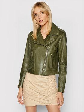 LaMarque LaMarque Kurtka skórzana Donna 21 Zielony Tailored Fit