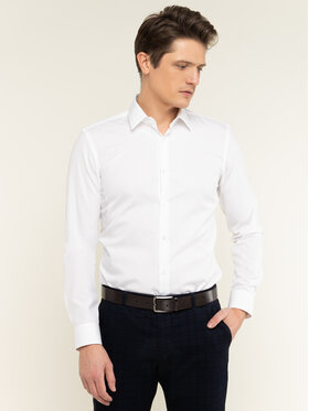 Boss Boss Hemd Isko 50427541 Weiß Slim Fit