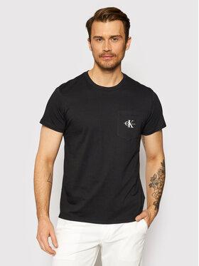 Calvin Klein Jeans Calvin Klein Jeans Marškinėliai J30J317294 Juoda Slim Fit
