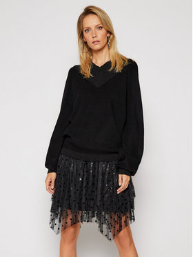 Silvian Heach Silvian Heach Комплект лятна рокля и пуловер PGA20339TW Черен Relaxed Fit