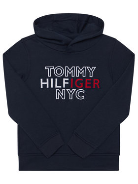 Tommy Hilfiger Tommy Hilfiger Bluza Th Nyc Graphic Hoodie KB0KB05808 M Granatowy Regular Fit