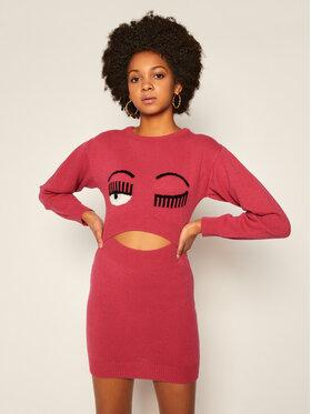 Chiara Ferragni Chiara Ferragni Úpletové šaty 20AI-CFDR036 Růžová Slim Fit