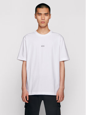 Boss Boss Marškinėliai Tchup 50418749 Balta Relaxed Fit