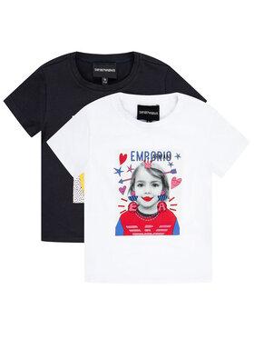 Emporio Armani Emporio Armani Komplet 2 t-shirtów 3H3D02 3J2IZ 0922 Kolorowy Regular Fit