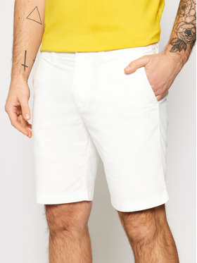 Calvin Klein Jeans Calvin Klein Jeans Šortky z materiálu J30J319061 Bílá Slim Fit