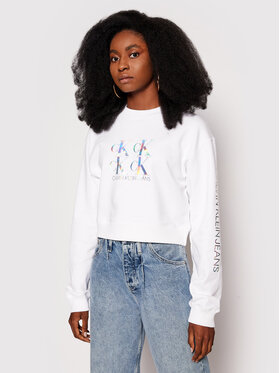 Calvin Klein Jeans Calvin Klein Jeans Mikina J20J215575 Biela Regular Fit