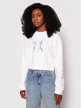 Calvin Klein Jeans Calvin Klein Jeans Суитшърт J20J215575 Бял Regular Fit
