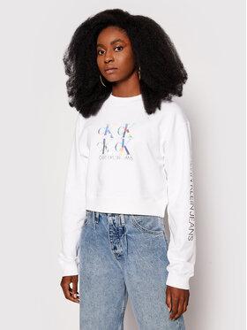 Calvin Klein Jeans Calvin Klein Jeans Sweatshirt J20J215575 Weiß Regular Fit