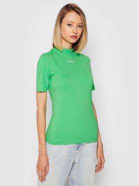 Calvin Klein Jeans Calvin Klein Jeans Bluză J20J216344 Verde Slim Fit
