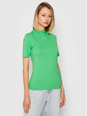 Calvin Klein Jeans Calvin Klein Jeans Bluzka J20J216344 Zielony Slim Fit
