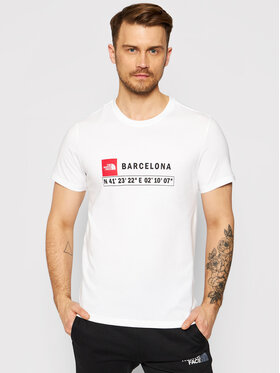 The North Face The North Face Marškinėliai Gps Tee Barcelona NF0A3VFZ Balta Regular Fit