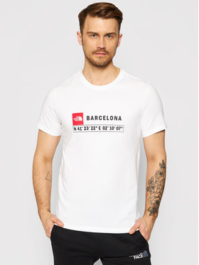 The North Face The North Face T-Shirt Gps Tee Barcelona NF0A3VFZ Weiß Regular Fit