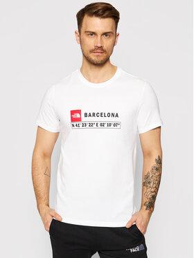 The North Face The North Face Tričko Gps Tee Barcelona NF0A3VFZ Biela Regular Fit