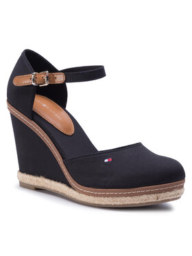 Tommy Hilfiger Tommy Hilfiger Espadrilky Iconic Basic Closed Toe Wedge FW0FW02791 Čierna