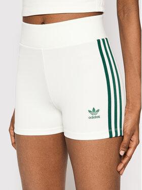 adidas adidas Pantaloni scurți sport Tennis Luxe Booty H56461 Alb Slim Fit