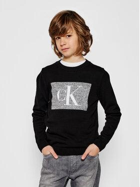 Calvin Klein Jeans Calvin Klein Jeans Pulover Oco Monogram Box IB0IB00623 Negru Regular Fit